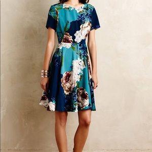 Anthropologie Dresses - Anthropologie Paeonia Floral Flare Dress Sz 2 NWT